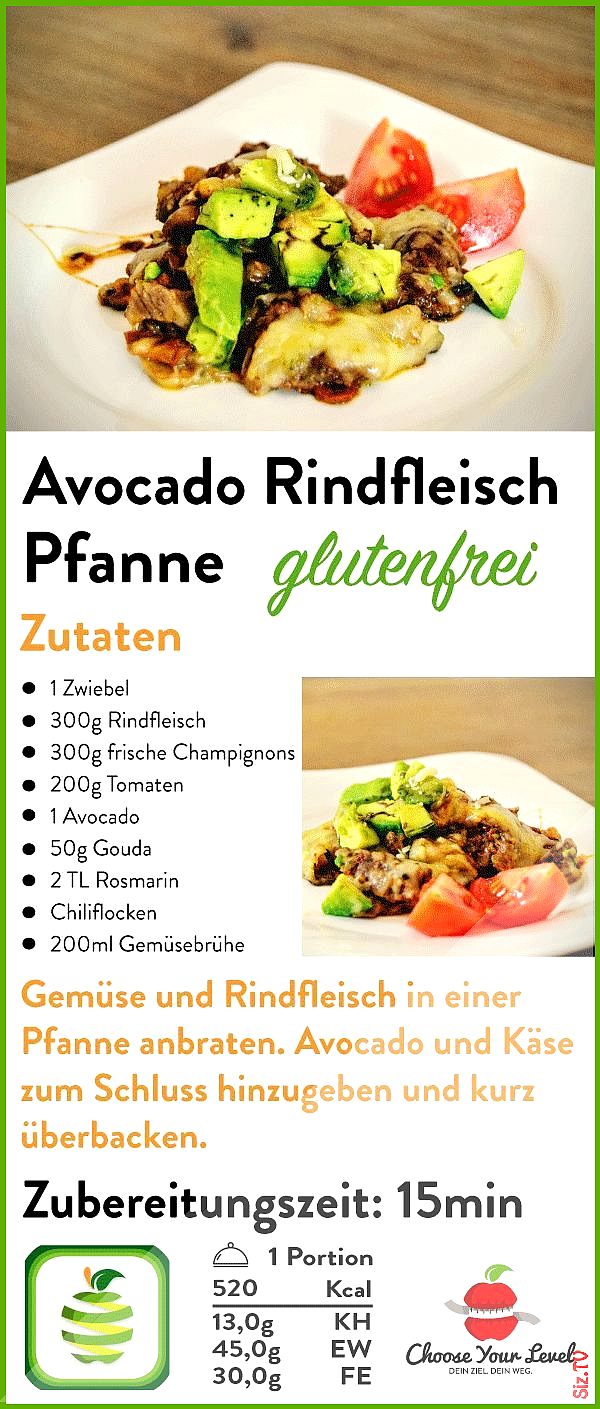Avocado Rindfleisch Pfanne Avocado Rindfleisch Pfanne AnThe AnThe antheanthe Kochen Low carb Tolle A...