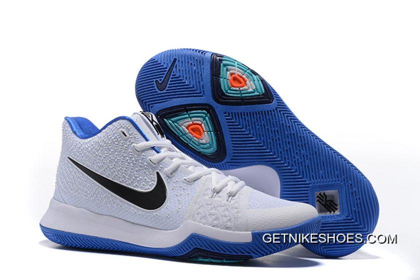 Nike Kyrie 3 Mens BasketBall Shoes White Blue Online 4irFMxH fe29751d70