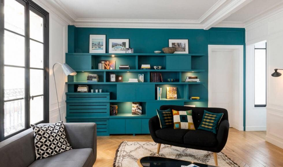 9 chic ideas to style a feature wall in the living room on wall paint ideas for living room id=23865