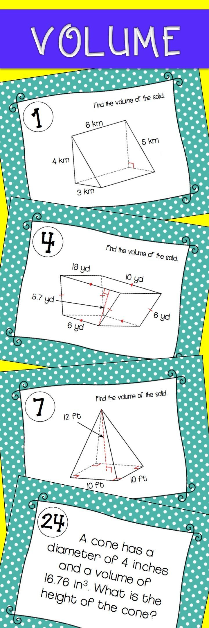 Volume Task Cards | Maths, Activities and Maths resources