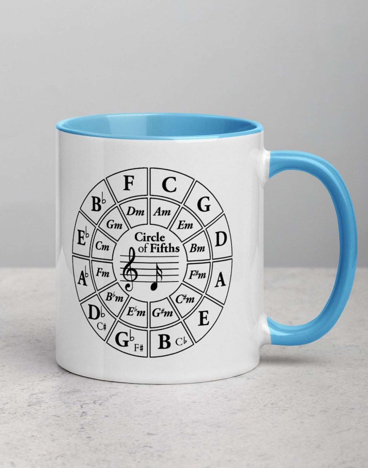 Circle of Fifths Musician Bass Clef Chart Progression