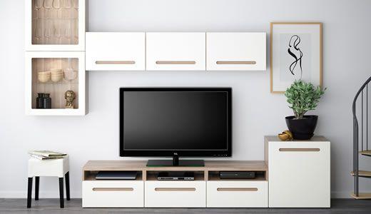Vetrine Ikea Mobili Soggiorno Componibili.Sistema Componibile Besta Arredamento Salotto Ikea Arredamento