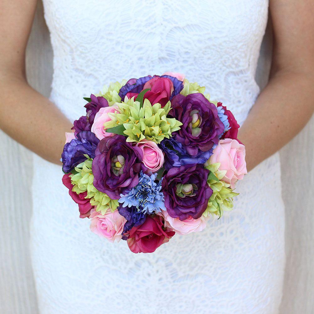 Pre Made Silk Wedding Bouquets Wedding Flowers Afloral