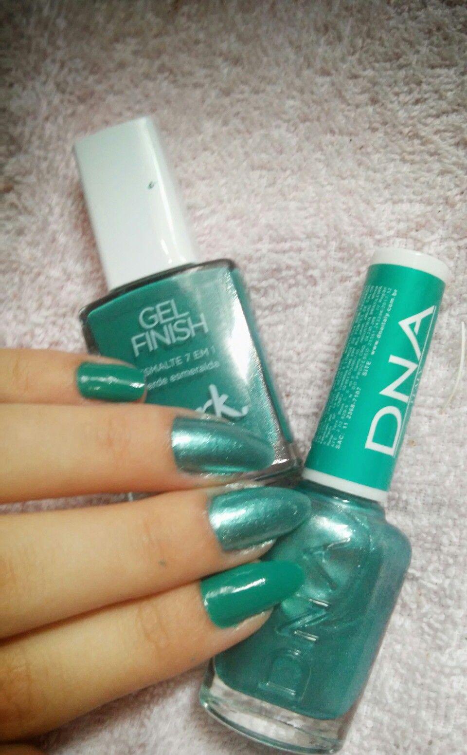 Esmaltes, Avon gel e DNA, Azul Tiffany, Verde Esmeralda... | Unhas ...