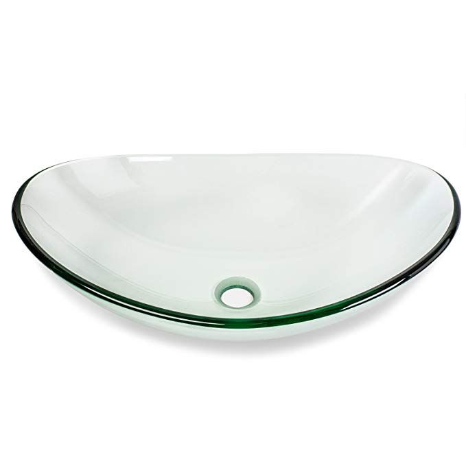 Miligoré Modern Glass Vessel Sink - Above Counter Bathroom Vanity