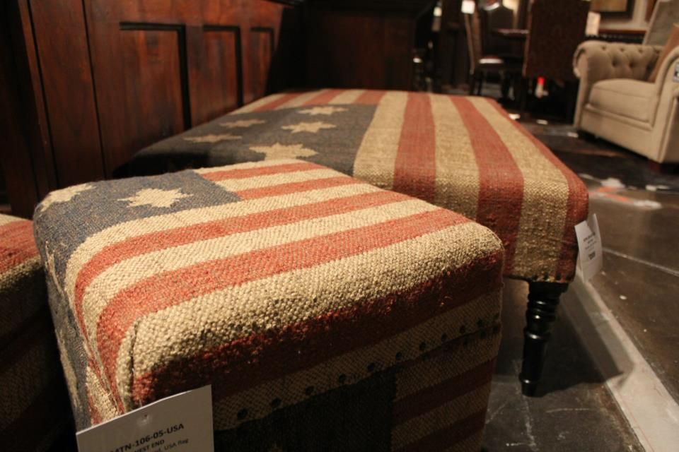 A touch of Americana can really make a room feel like home. This stool and bench are really special. Use at the foot of the bed or as a coffee table.