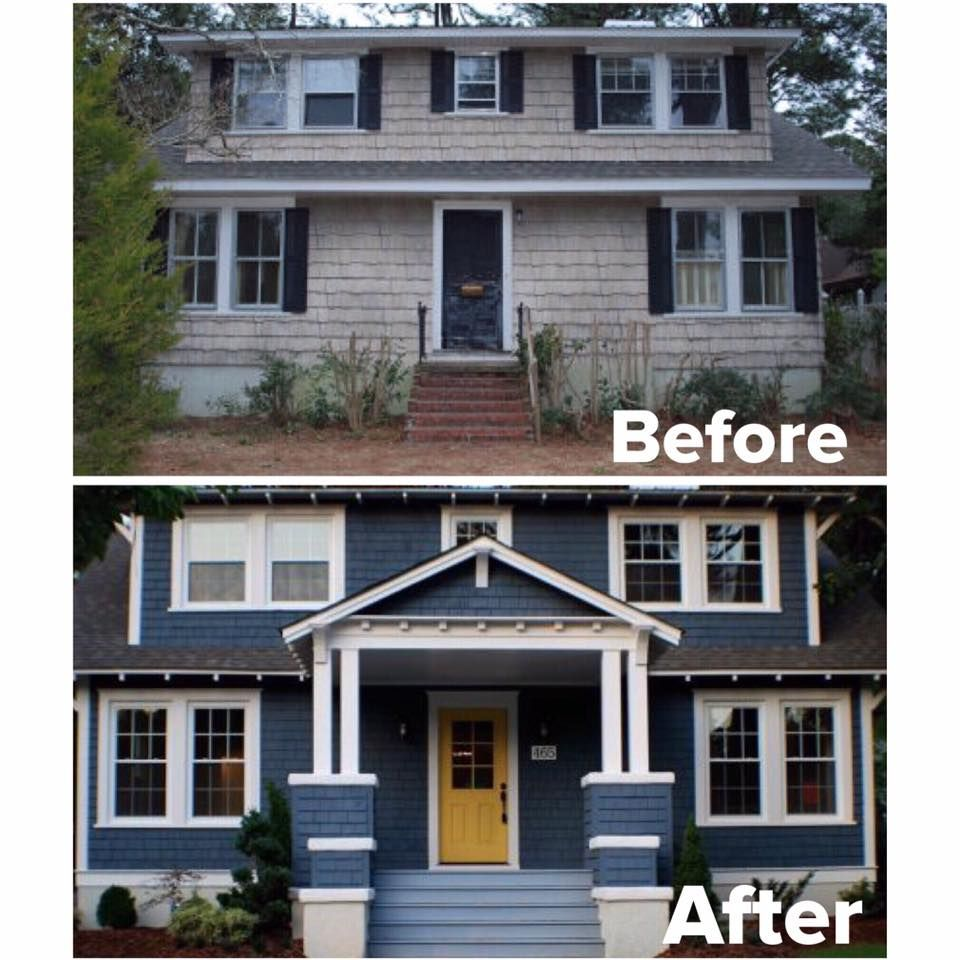 20 home exterior makeover before and after ideas see for Before and after exterior home makeovers