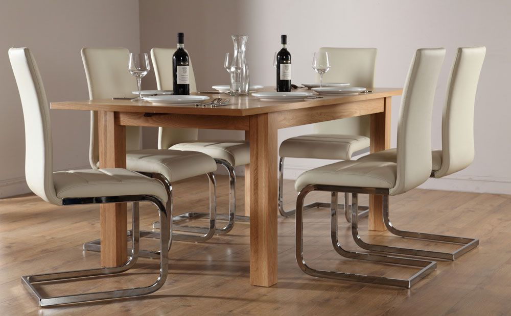 Buy Credenza Perth : Harrison extending oak dining table and chairs set perth ivory