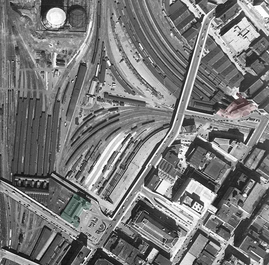 Atlanta 1949. Terminal Station, Highlighted In Green