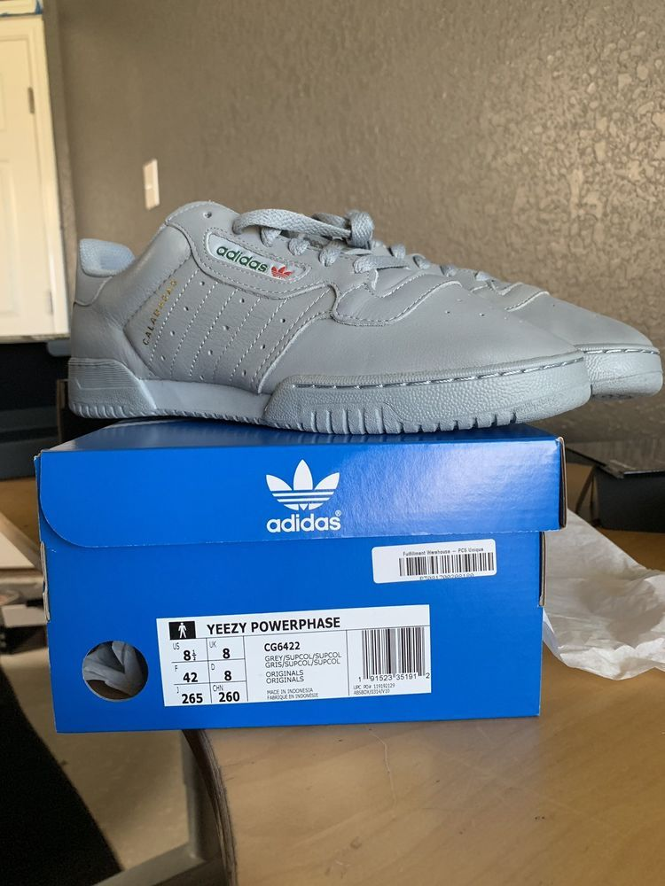 e362f63d6a607 Adidas Yeezys calabasas powerphase gray size 8.5 with box 100 ...