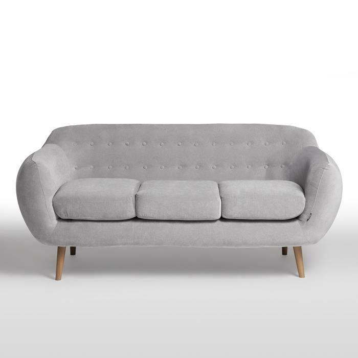 finlandek canap indigo 3 places gris clair canap. Black Bedroom Furniture Sets. Home Design Ideas