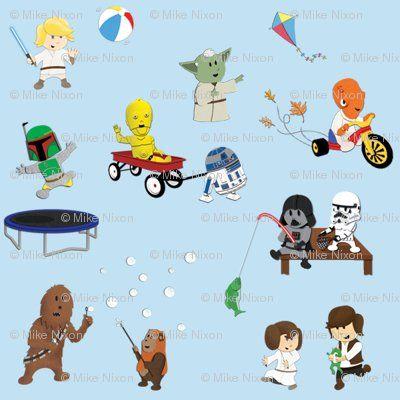 Star Wars Kids Fabric Star Wars Fabric Star Wars Kids Star Wars Baby