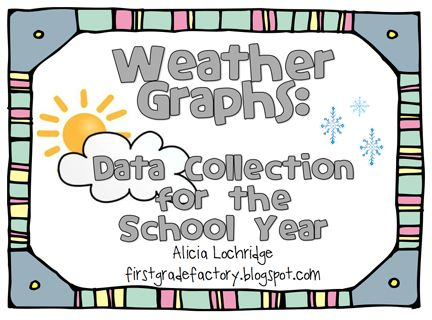 Here S A Terrific Set Of Monthly Weather Graph Pages For Use In