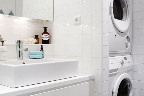 9 petites salles de bains avec lave-linge (+astuces  conseils) Toilet - plan d une maison simple