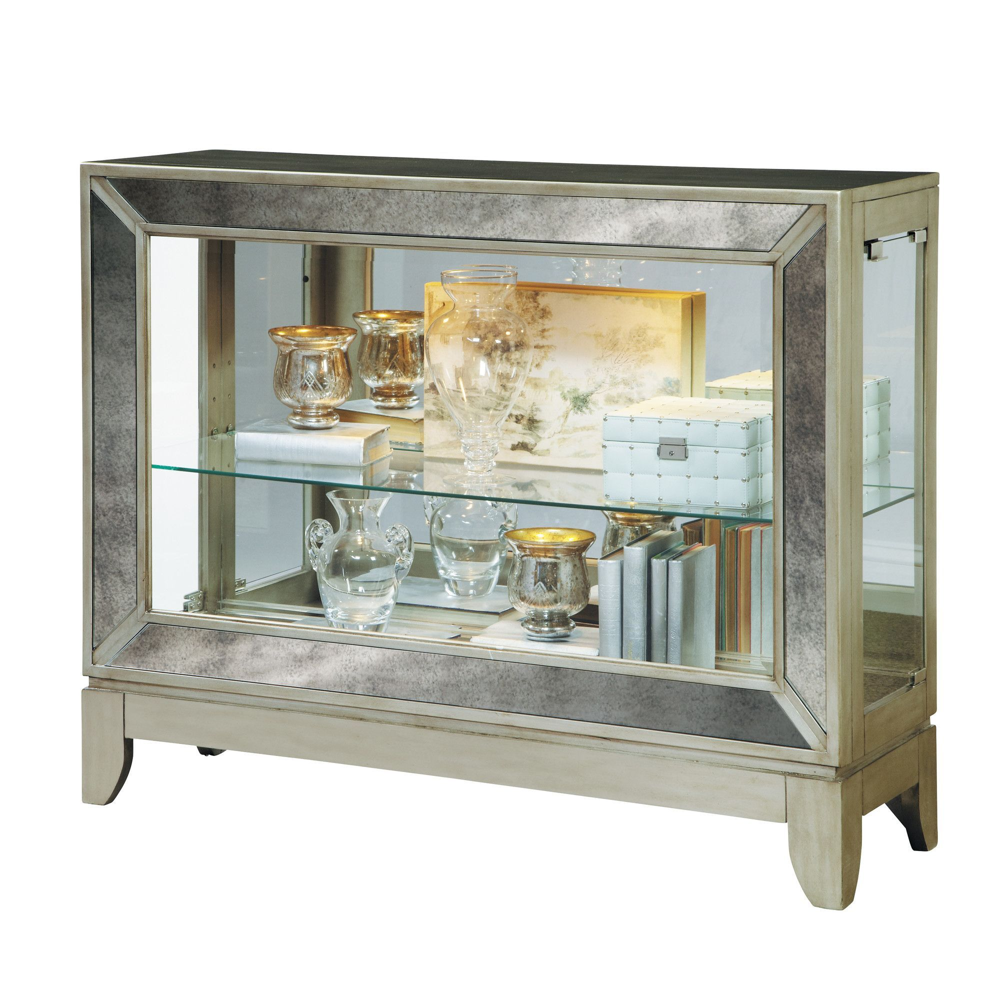 Mirrored 2 Shelf Console Cabinet | These are a few of my favorite ...