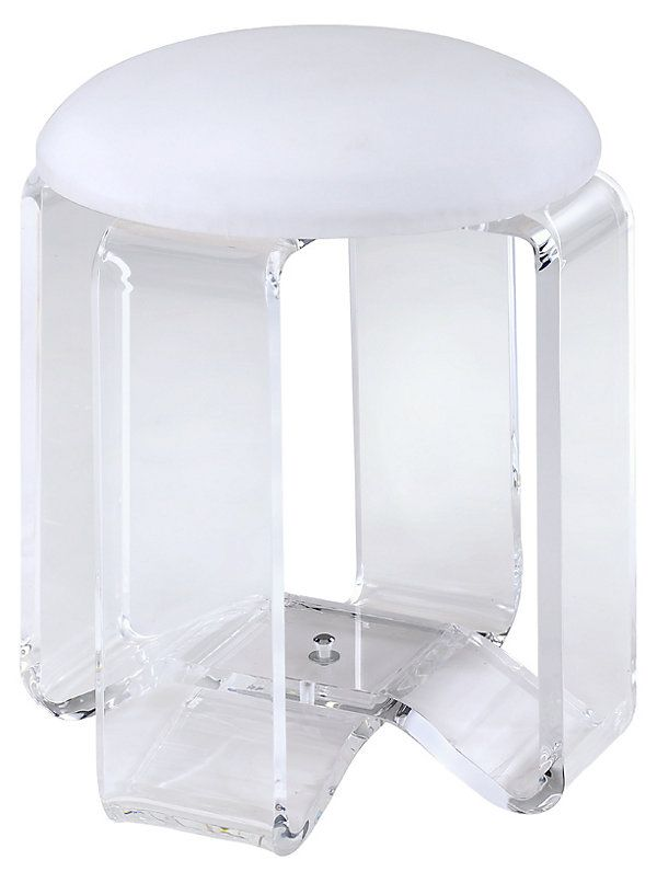 Fabulous Dex Acrylic Vanity Stool 199 Affordable Contemporary Pabps2019 Chair Design Images Pabps2019Com