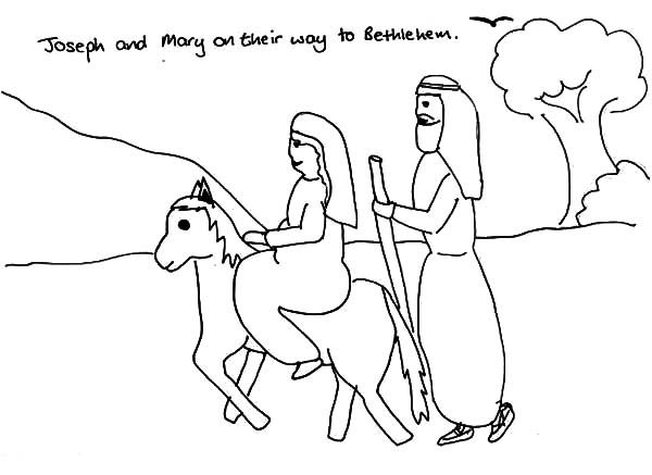Mary And Joseph Going To Bethlehem Coloring Pages Coloring Pages The Donkey Mary