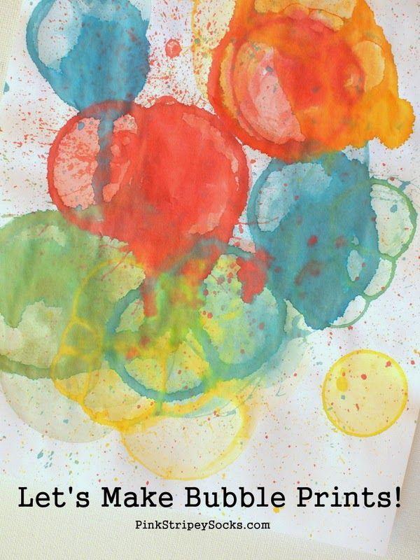Make Bubble Prints! (from 101 Kids Activities) | Actividades para ...