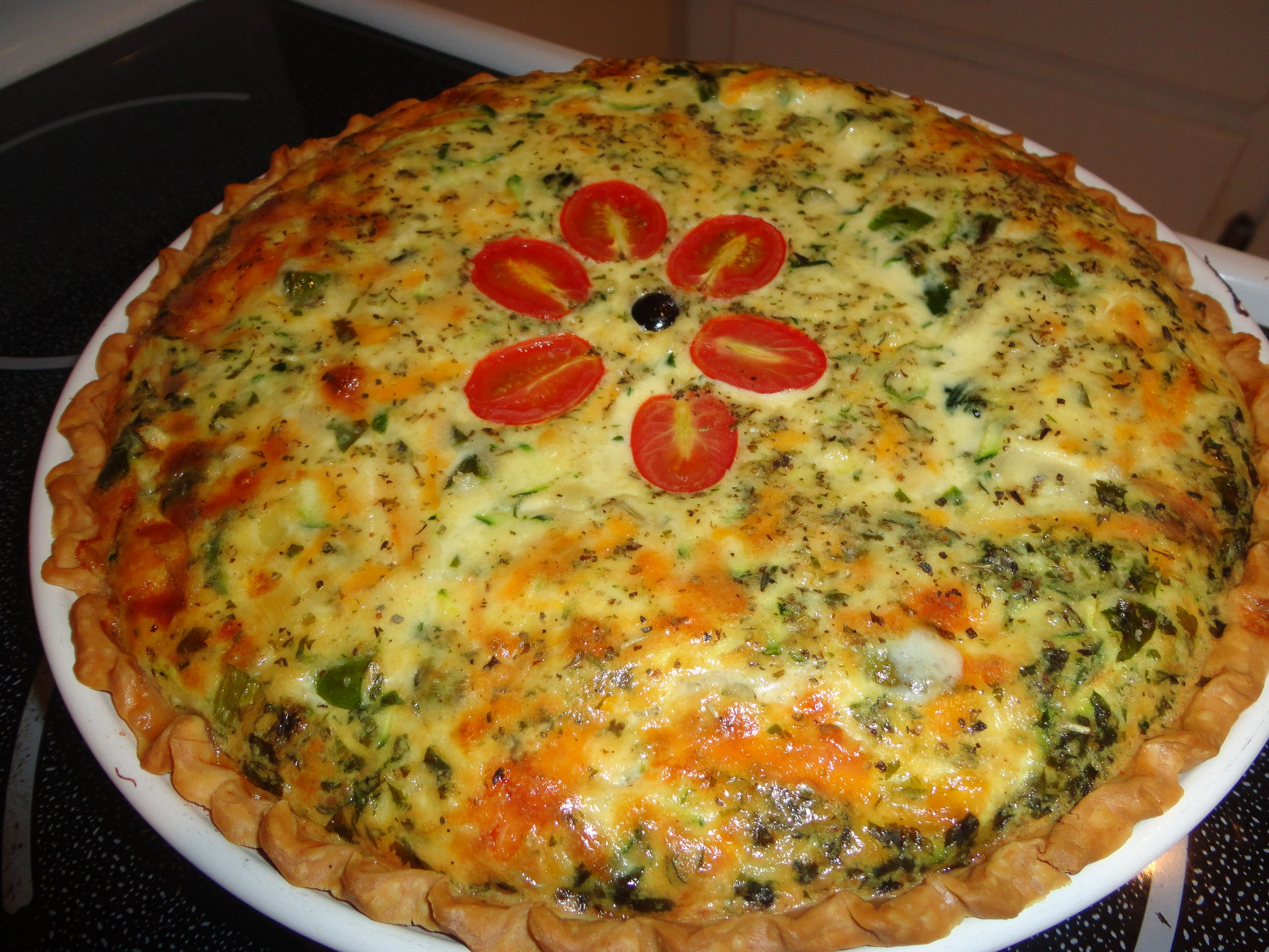 Leek and Asparagus Quiche, Joy the Baker, with some additions to recipe