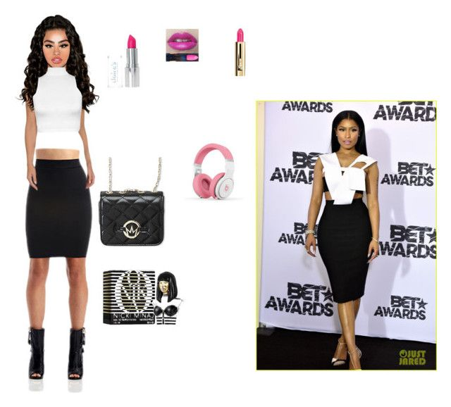 """""""Nicki Minaj (READ THE D)"""" by infinitytrendsetters ❤ liked on Polyvore featuring Nicki Minaj, Elizabeth Arden, WearAll and Guerlain"""