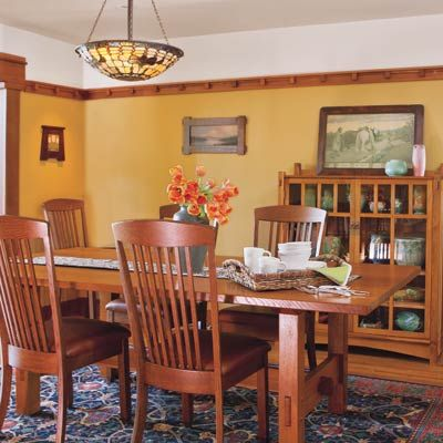 Craftsman Style Dining Room Table De Ideas