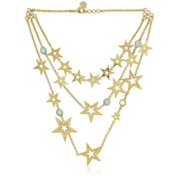 AZZA FAHMY Stars Collection Necklace (£680) found on Polyvore featuring jewelry, necklaces, accessories, star jewelry, azza fahmy and star necklace