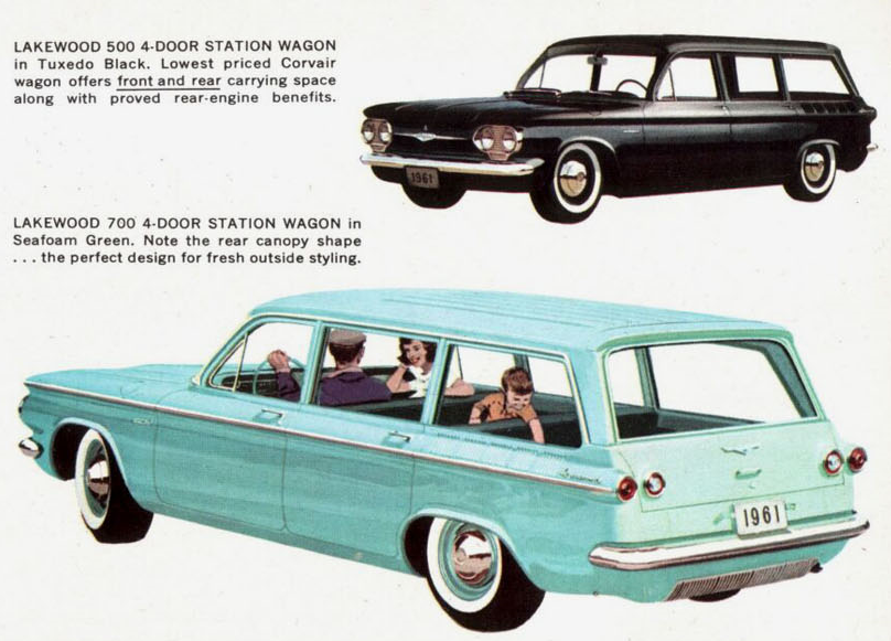 1961 Corvair Lakewood 500 And 700 Station Wagons Vintage Muscle Cars Chevy Corvair Chevrolet Corvair