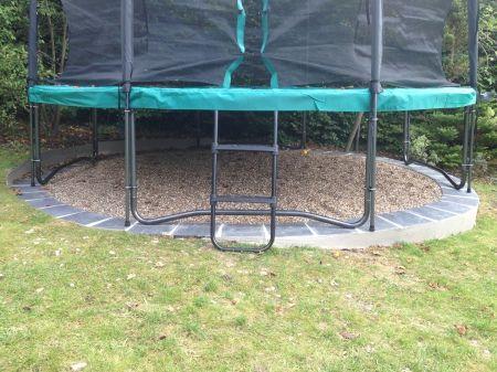 My Bespoke Solutions Trampoline Foundations Backyard Trampoline Garden Trampoline Backyard