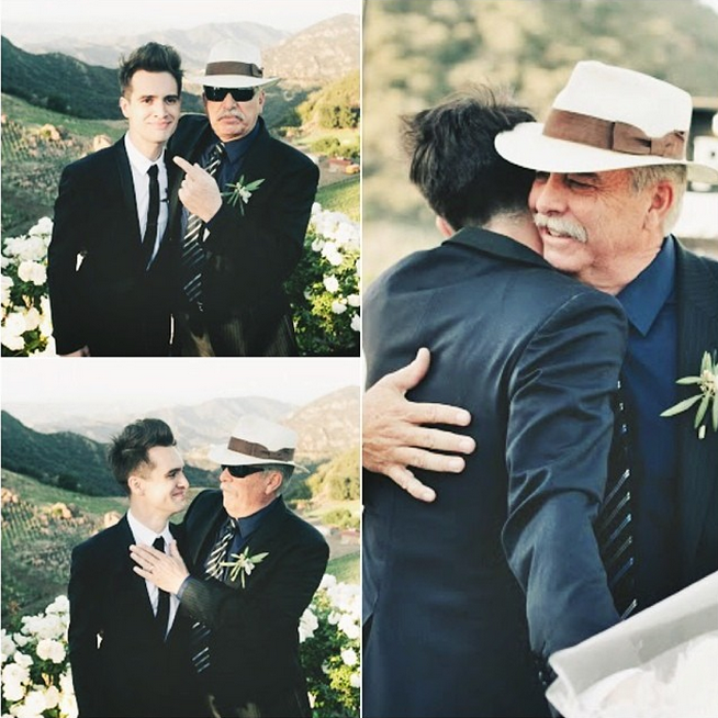 Brendon and his dad. This is so cute! :3