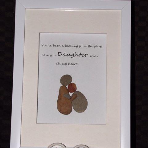 Treasuredpebbles Family Pebbles Art Custom Personalised Frames Pebbleart Love Nursery Mum Nanna Dad Gifts Presents Memories Quotes Sticks