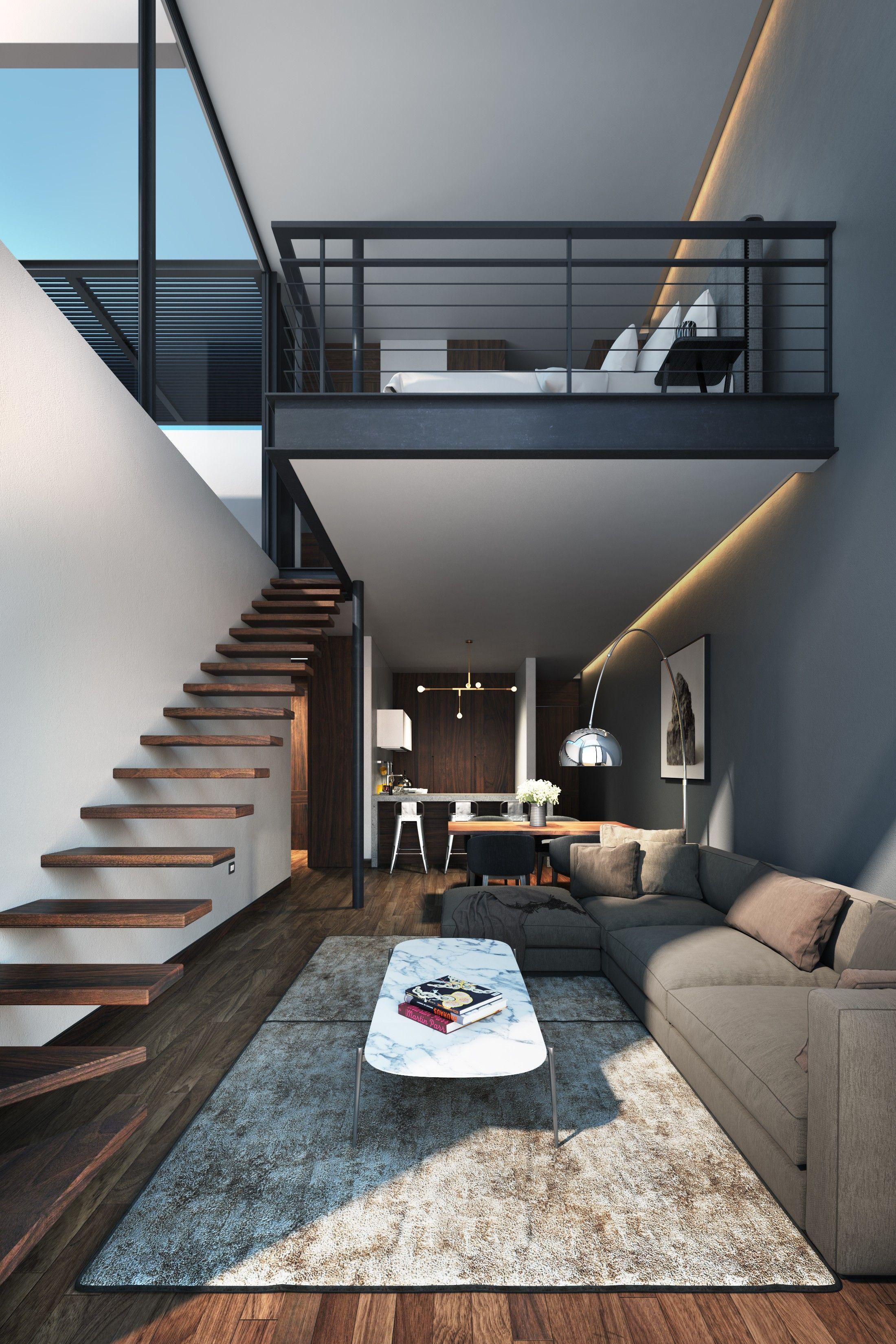 Loft bedroom staircase  Archello  Athetea  Pinterest  Interiors Lofts and Architecture