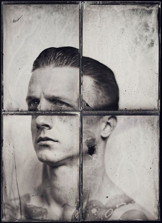 Polish photographer Kasia Wozniak uses the wet collodion process to create these enigmatic portraits on glass. Like Jody Ake and Allan Barnes she has reverted to the past, to the 19th Century to find a truth that she feels is absent from digital technology, to a craft that serves to bring more to the image than a mere reproduction, a pixelated vision of the world.