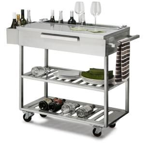 Newage Products Stainless Steel Classic 32x33 6x24 In Outdoor Kitchen Mobile Bar Cart Outdoor Kitchen Cabinets Outdoor Kitchen Bars Outdoor Kitchen Appliances