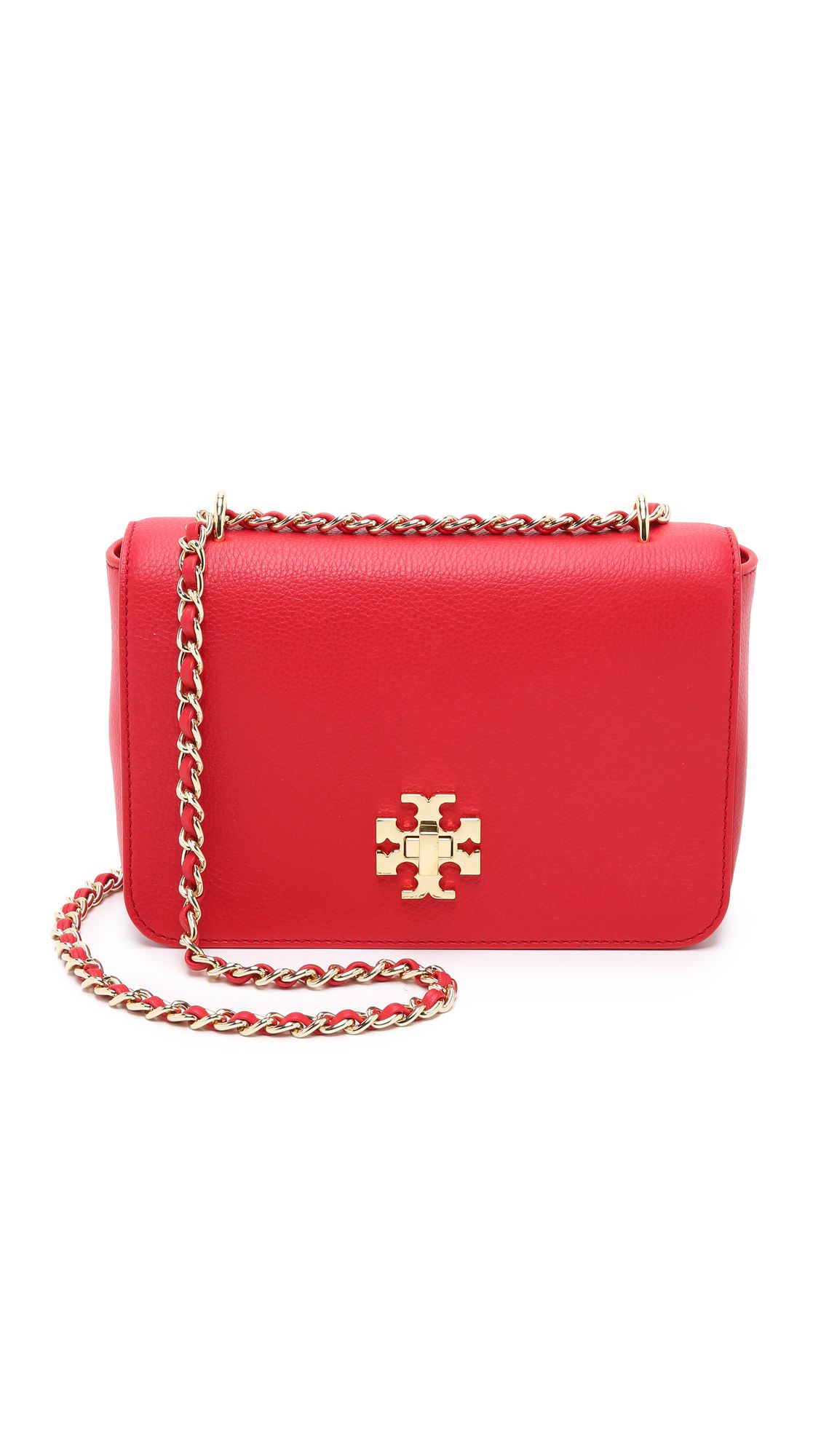 653b8093f Tory Burch Mercer Adjustable Shoulder Bag - Vermillion