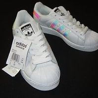 Adidas Iridescent Superstars Hologram Reflective White Girls