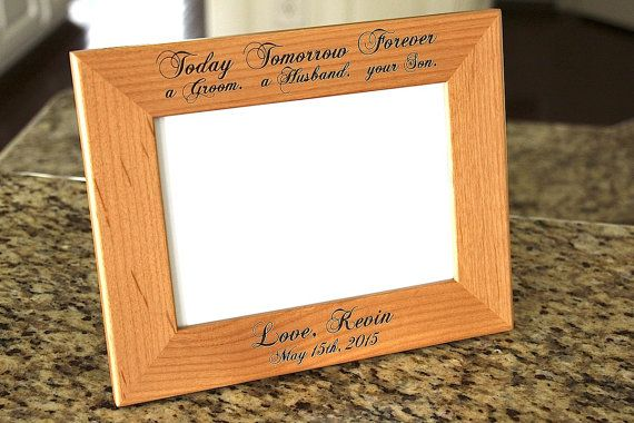 Parents of the Groom Gift, 5x7 Parents Wedding Frame, Father of the ...
