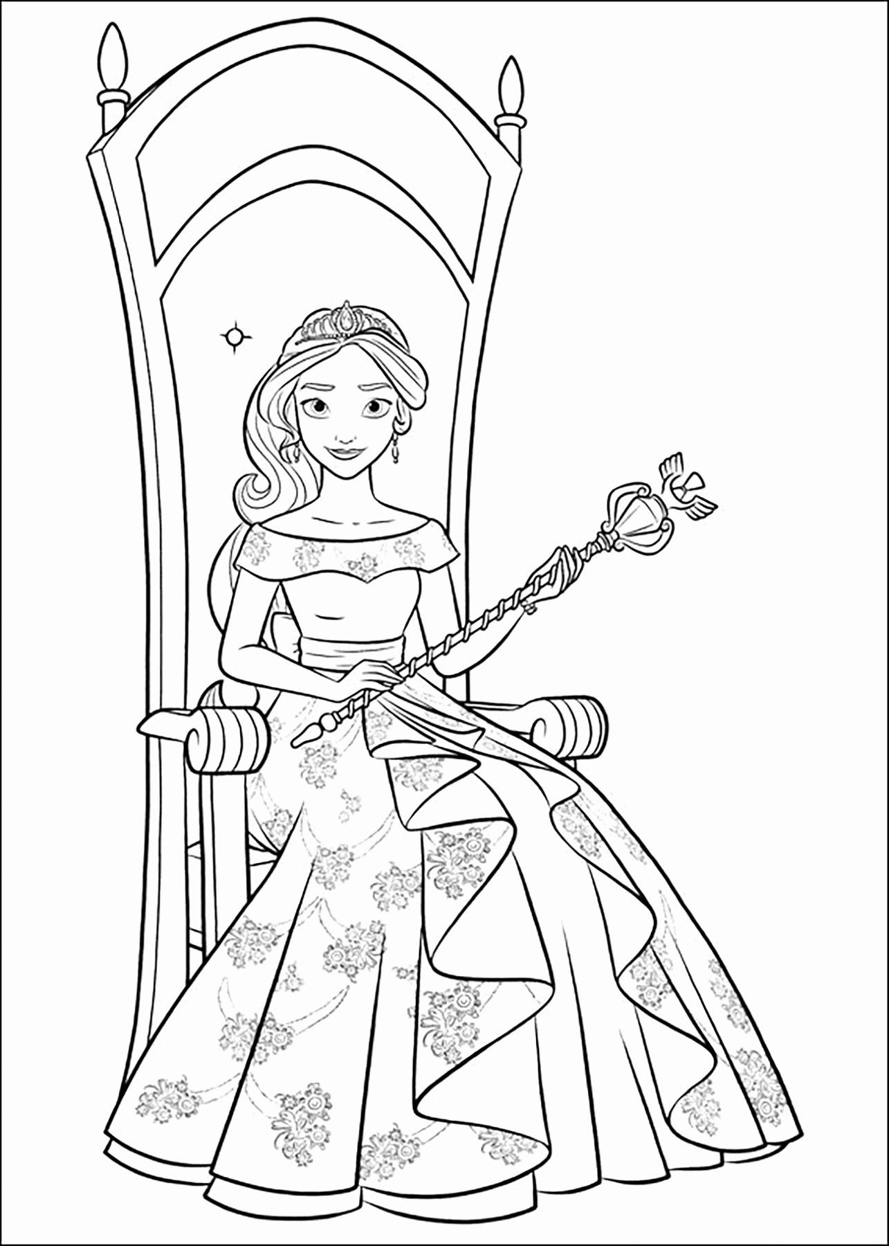 Elena Of Avalor Coloring Pages Printable Best Of Coloring Pages Free Printable Coloring El In 2020 Princess Coloring Pages Disney Coloring Pages Cartoon Coloring Pages
