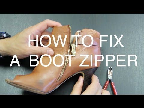 How To Fix A Boot Zipper Youtube Diy Pinterest Life Hacks