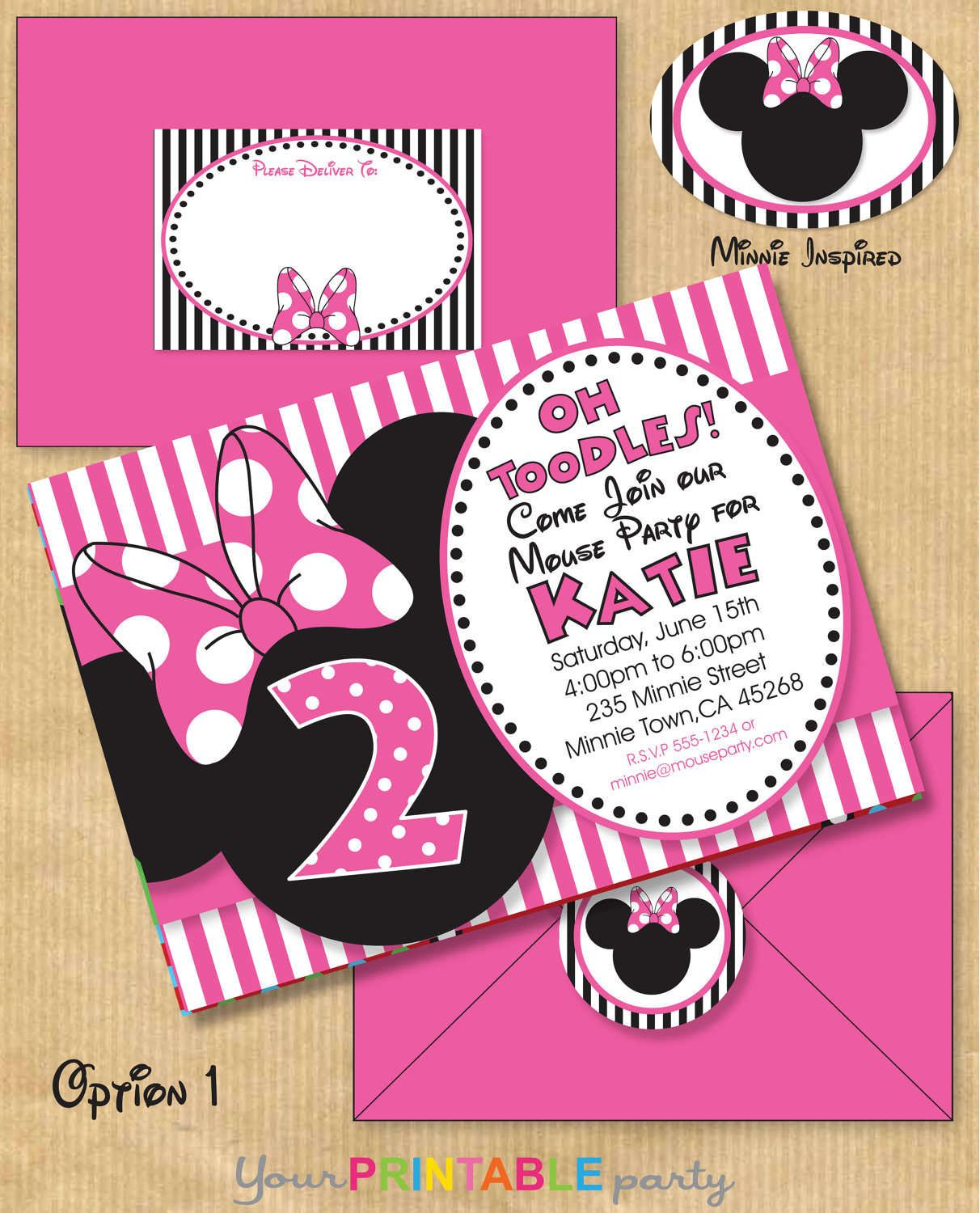 Minnie Mouse Printable Invitations Free | MJH is going to be 2 oh my ...