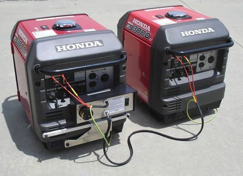 Honda Eu3000is 3000 Watt Portable Inverter Generator Parallel Power Up