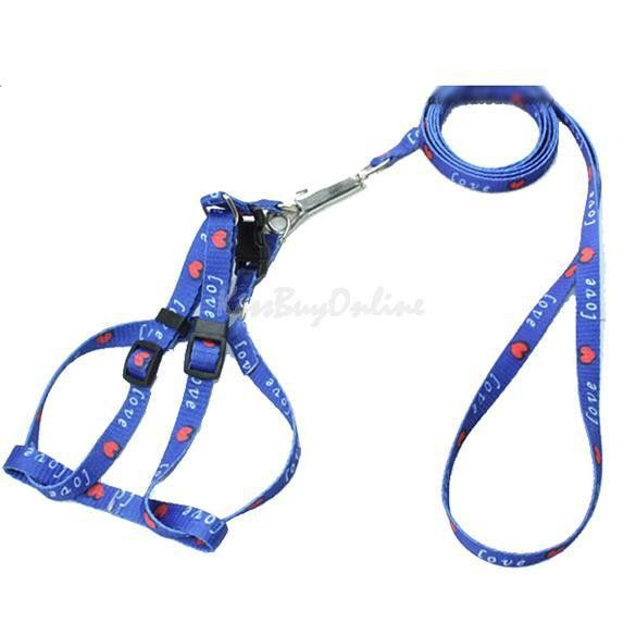 Brand New Nylon Pet Cat Doggie Puppy Leashes Lead Harness Belt Rope
