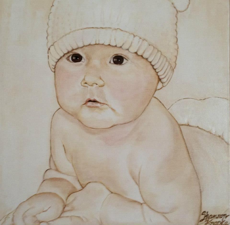 Welcome to the World Portrait    Shannon Knopke Fine Art