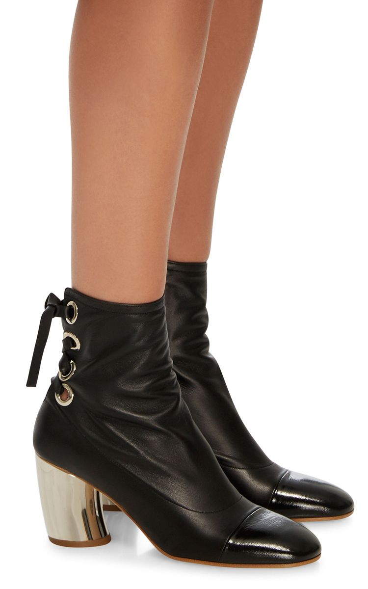 Proenza Schouler Chunky metallic heel ankle boot WBHBUeQ