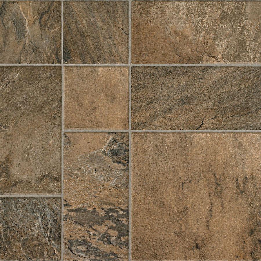 Kitchen Floor Laminate Tiles Swiftlock 1563 In W X 423 Ft L Desert Slate Baked Earth Tile