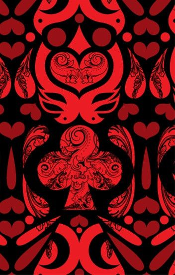 Cards Wallpaper in Black, Red and Burgundy design by Kreme ...