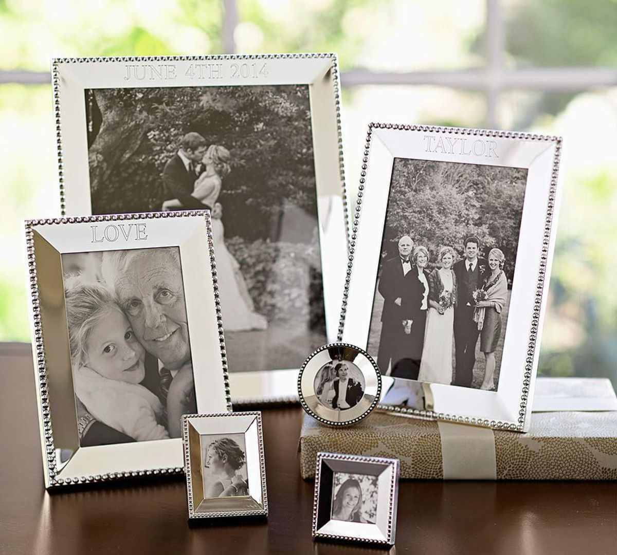 Beaded Silver-Plated Frames | Shelving and Table Top Decor ...