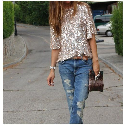 I really want a sequined shirt and blazer