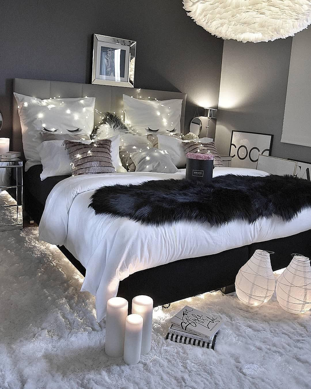 Your Guide To Grey Glam Bedroom Ideas Exclusive On Shopyhomes Com Cozy Home Decorating Bedroom Design Girl Bedroom Decor