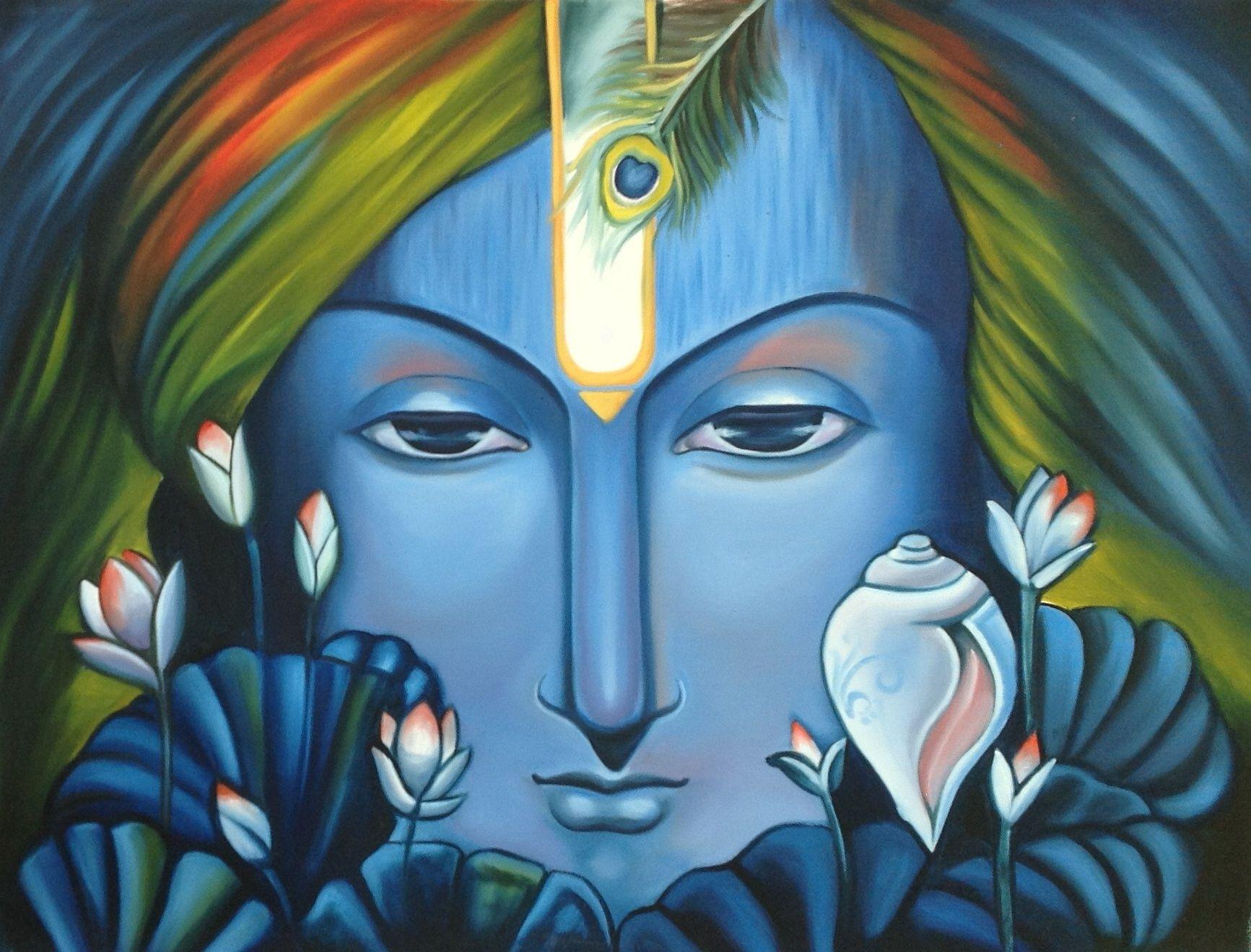 ArtnIndia   Mughal paintings, Krishna painting, Rajasthani art