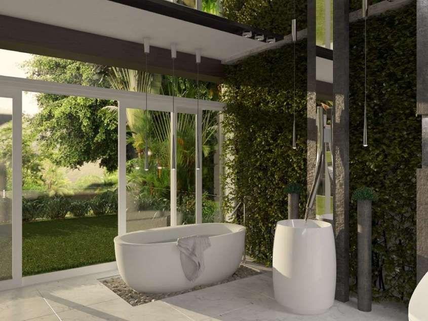 per bagno in stile jungle - Realizzare un bagno verde